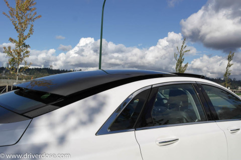 Retractable panoramic Sunroof